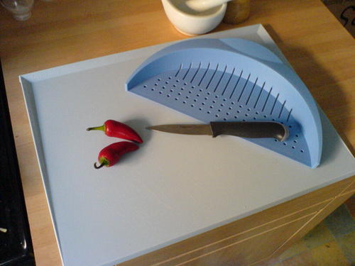 Chef's Cutting Board with Colander